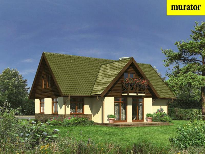 Проект одноэтажного дома с мансардой - муратор м20 rpm1732 в.